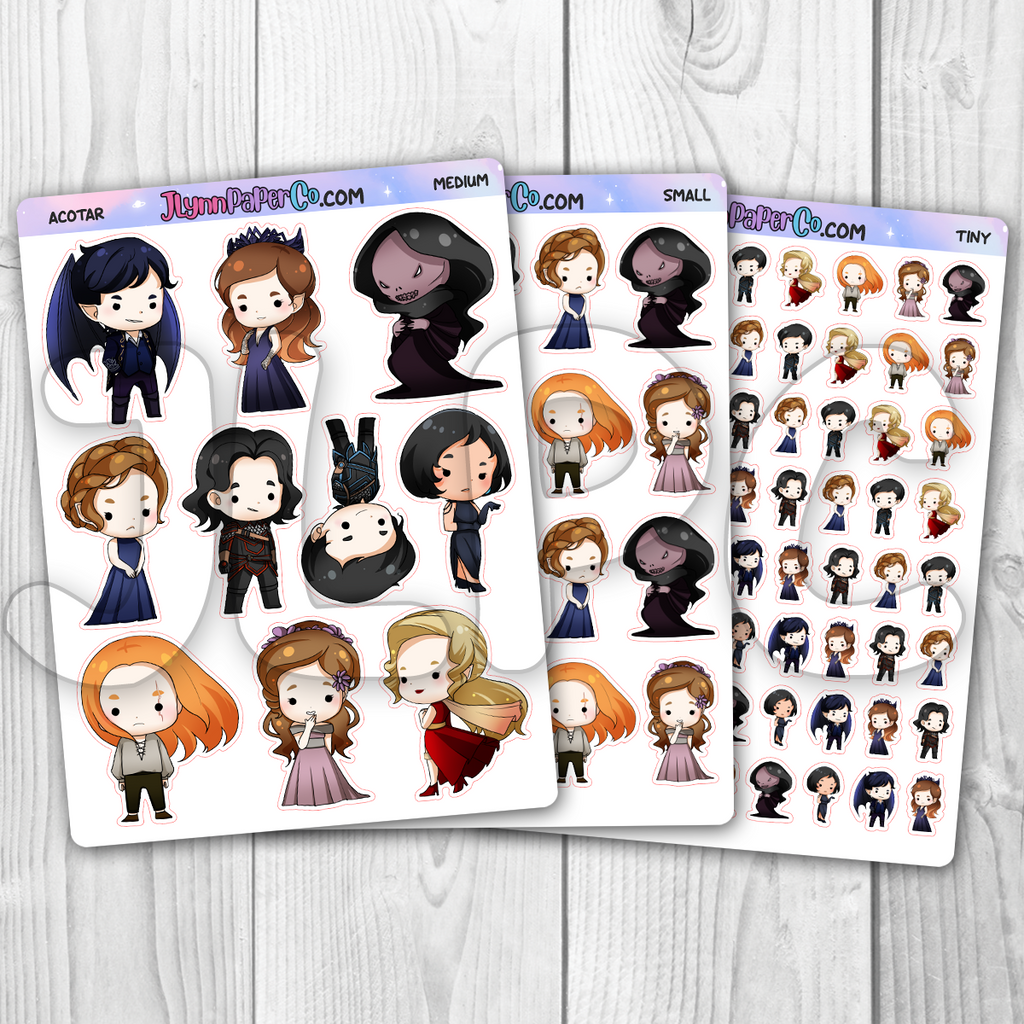 ACOTAR Character Stickers