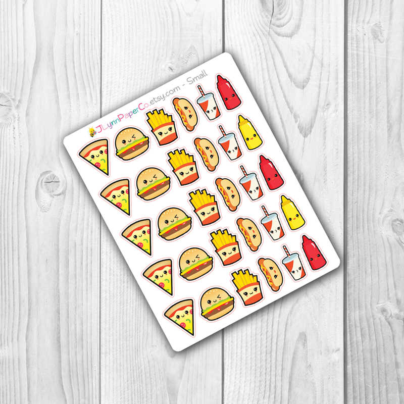 Kawaii Junk Food Stickers | AV002