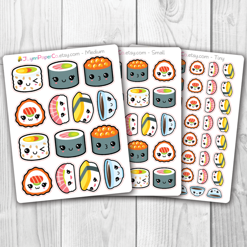 Kawaii Sushi Stickers | AV005
