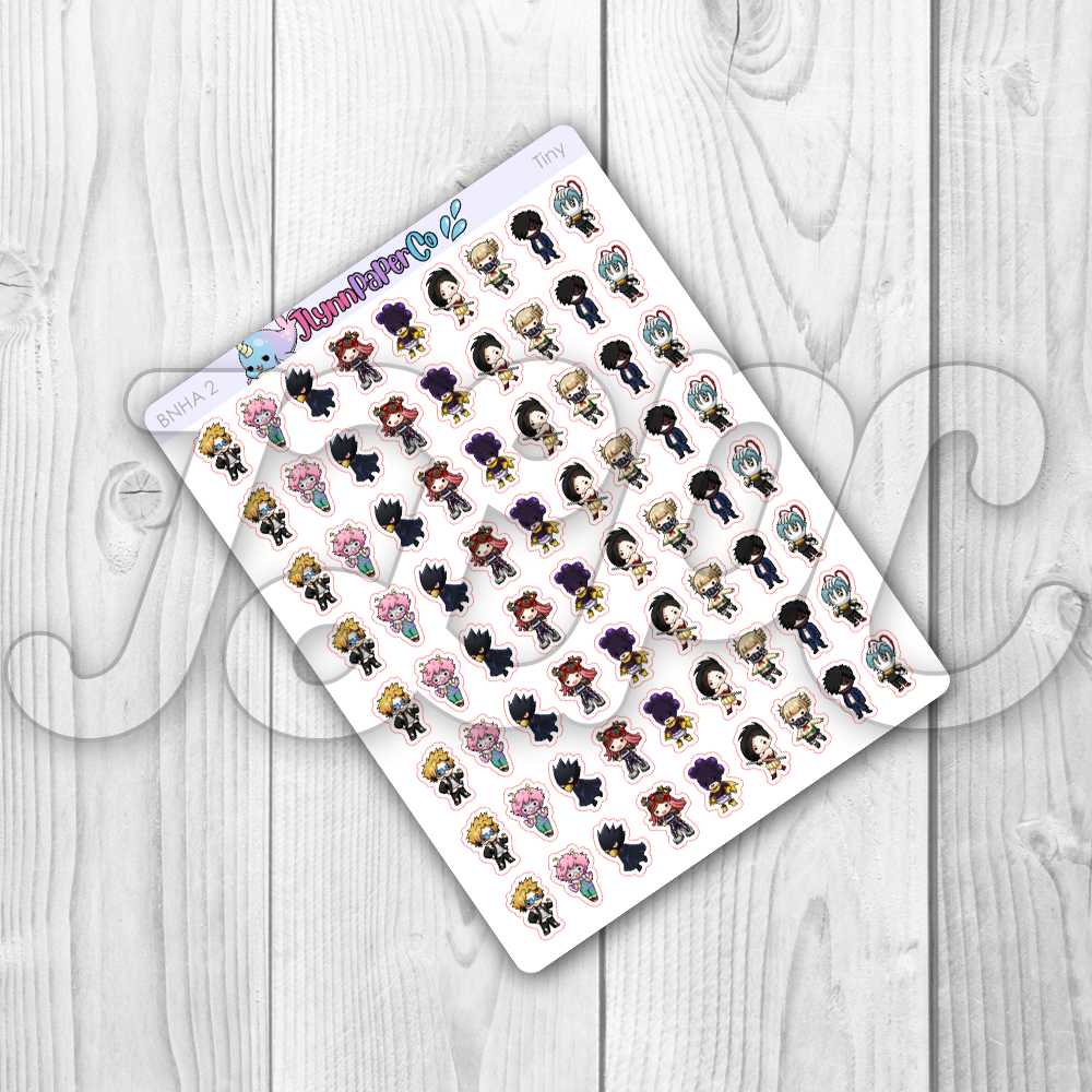 BNHA (set 2) Character Stickers