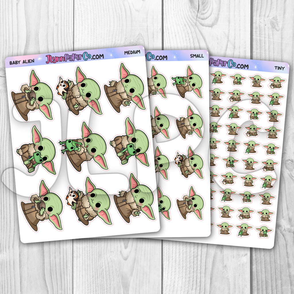 Baby Alien Character Stickers