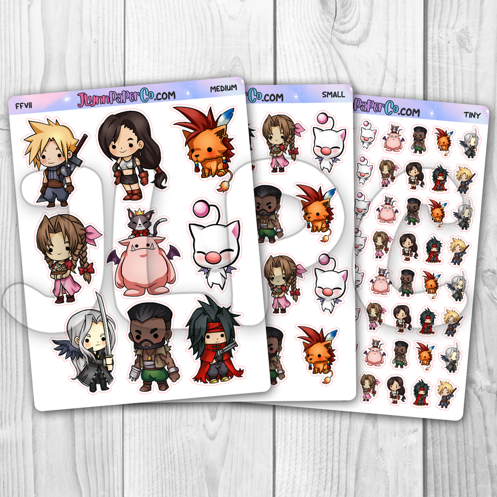 FFVII Character Stickers