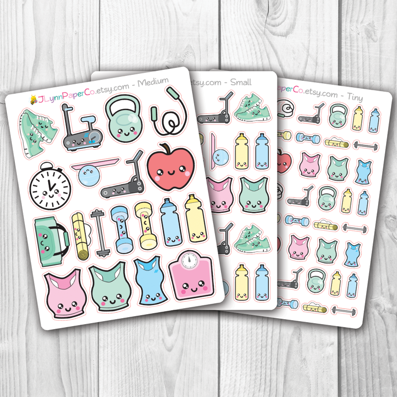 Kawaii Fitness Stickers | AL001