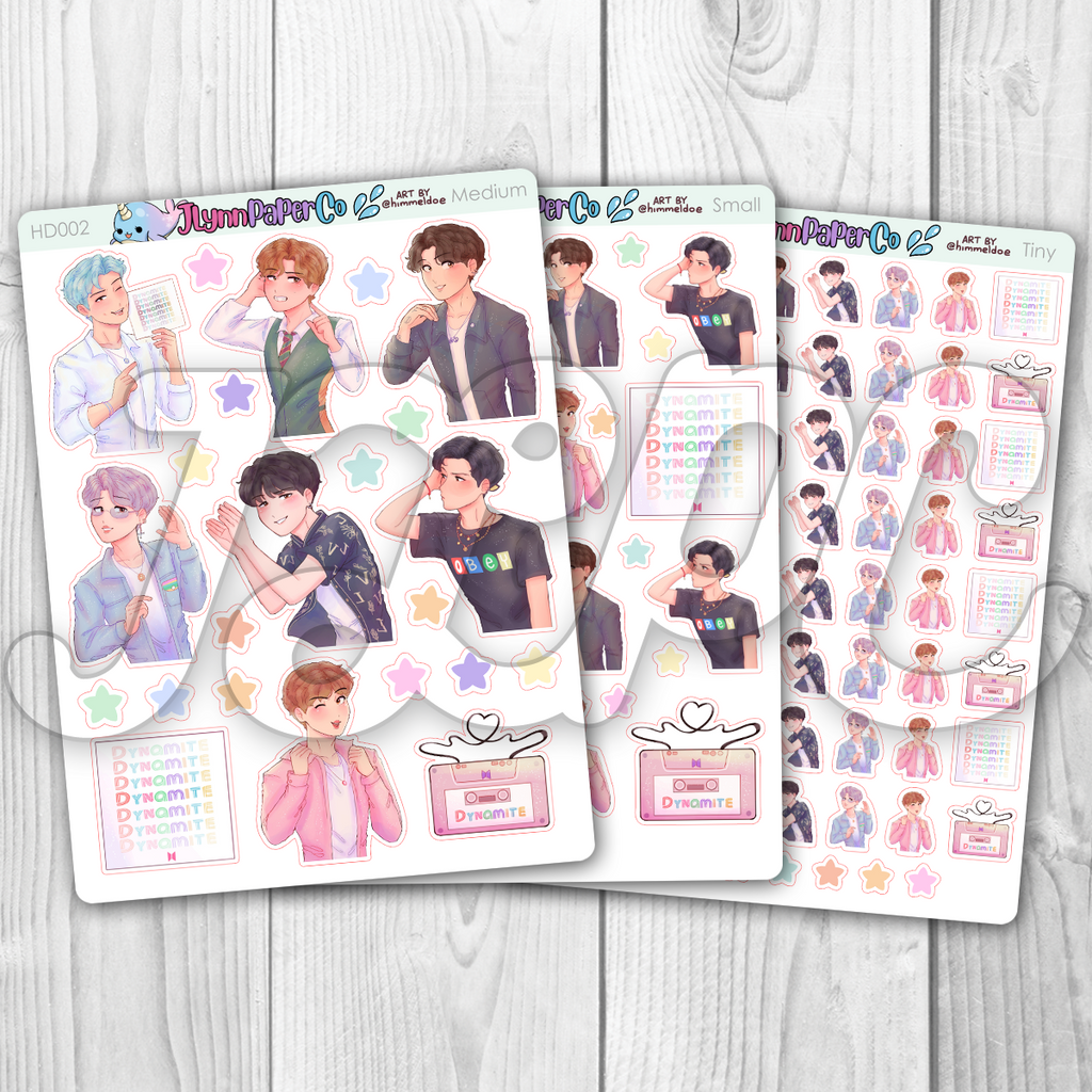 Dynamite KPop Character Stickers | HD002