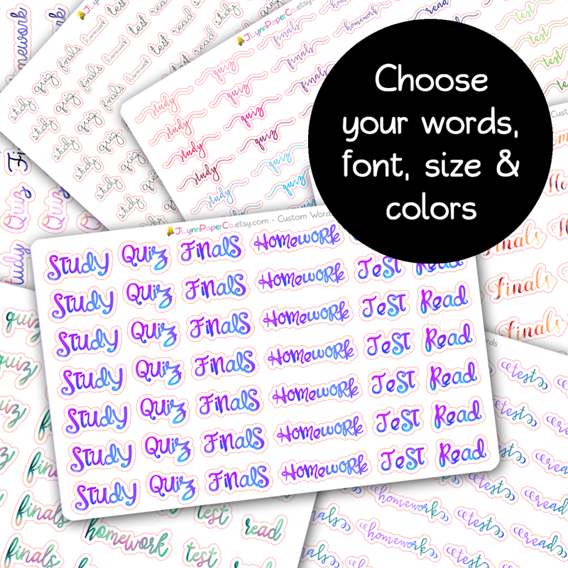 Custom Word Stickers