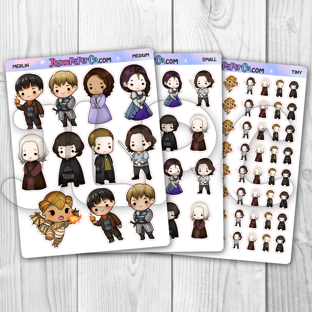 Merlin Character Stickers