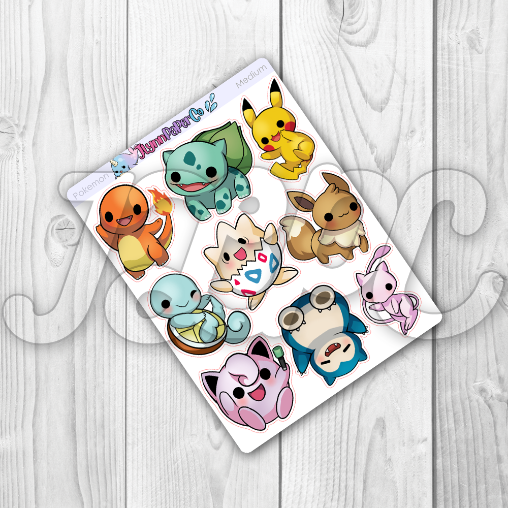 Pocket Monster Character Stickers