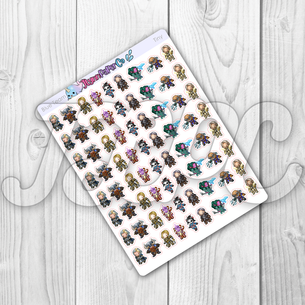 Raid Night (Blue Team) Character Stickers