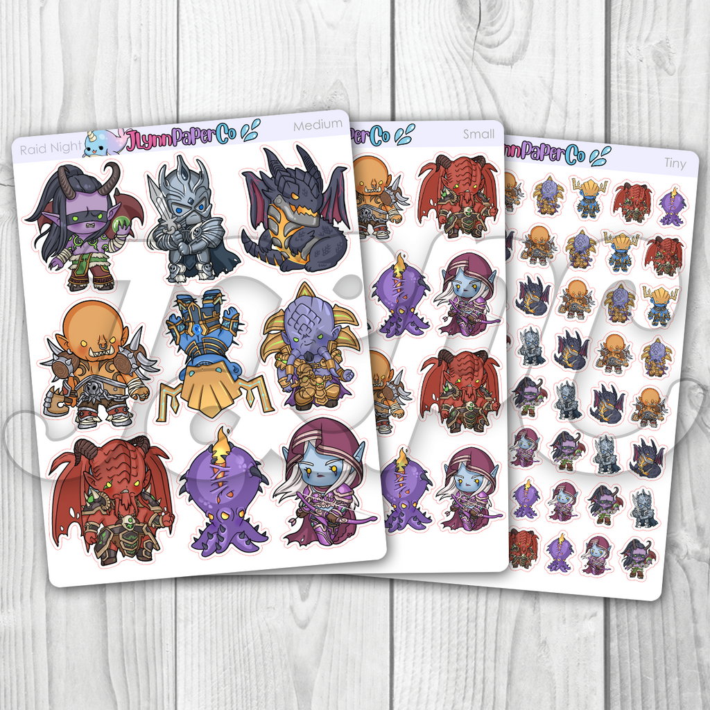 Raid Night (Bosses) Character Stickers