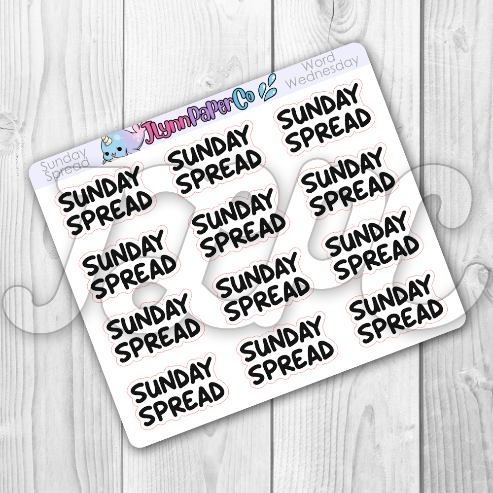 Sunday Spread Stickers | Word Wednesday