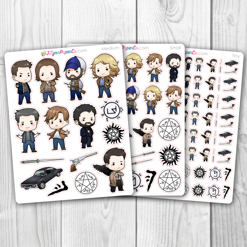 NEW Supernatural Character Stickers