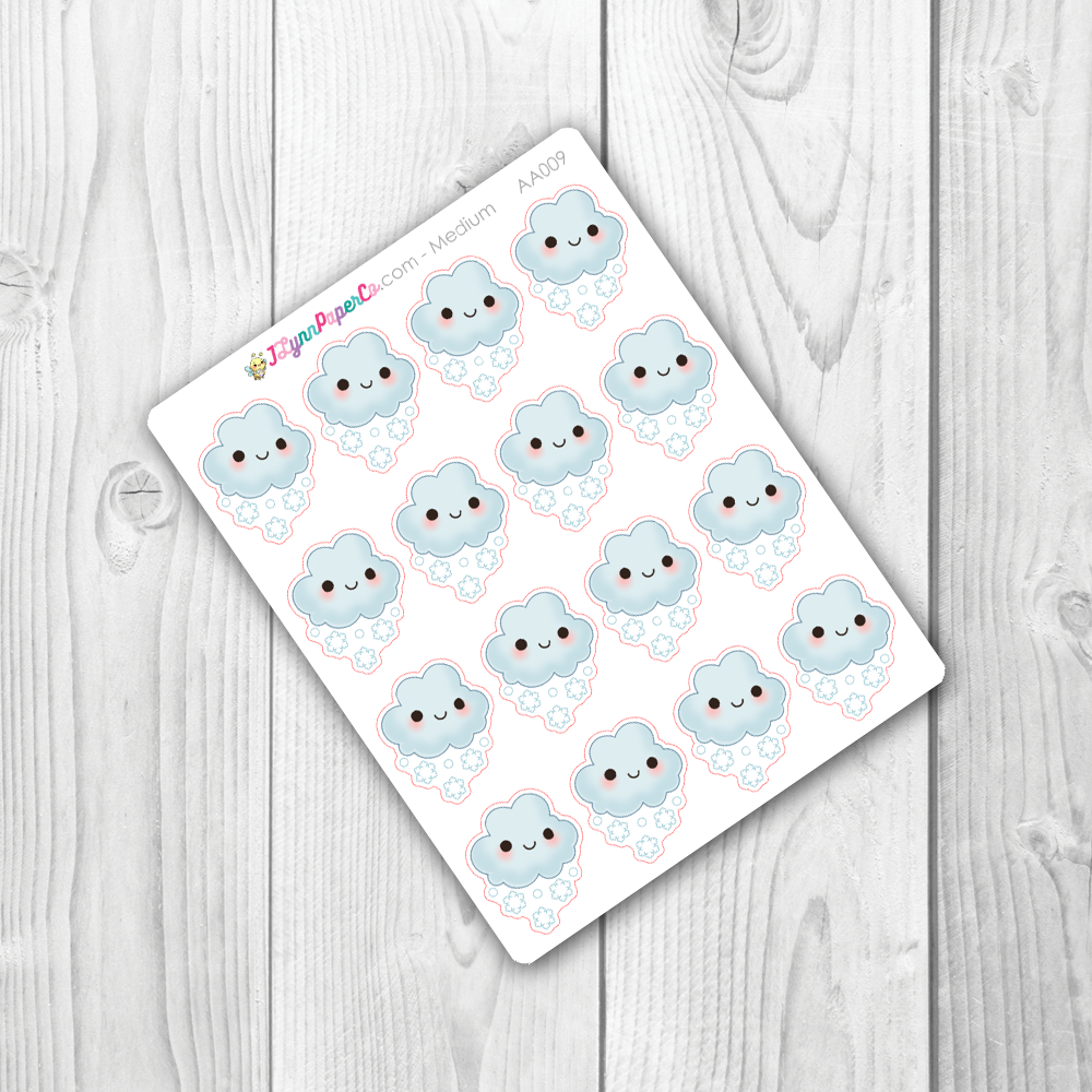 Kawaii Snowy Weather Stickers | AA009