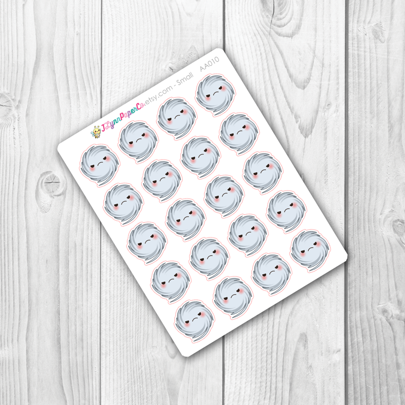 Kawaii Hurricane Weather Stickers | AA010
