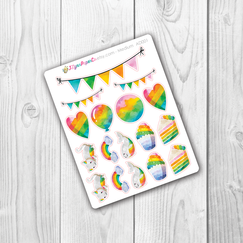 Rainbow Stickers | AD001