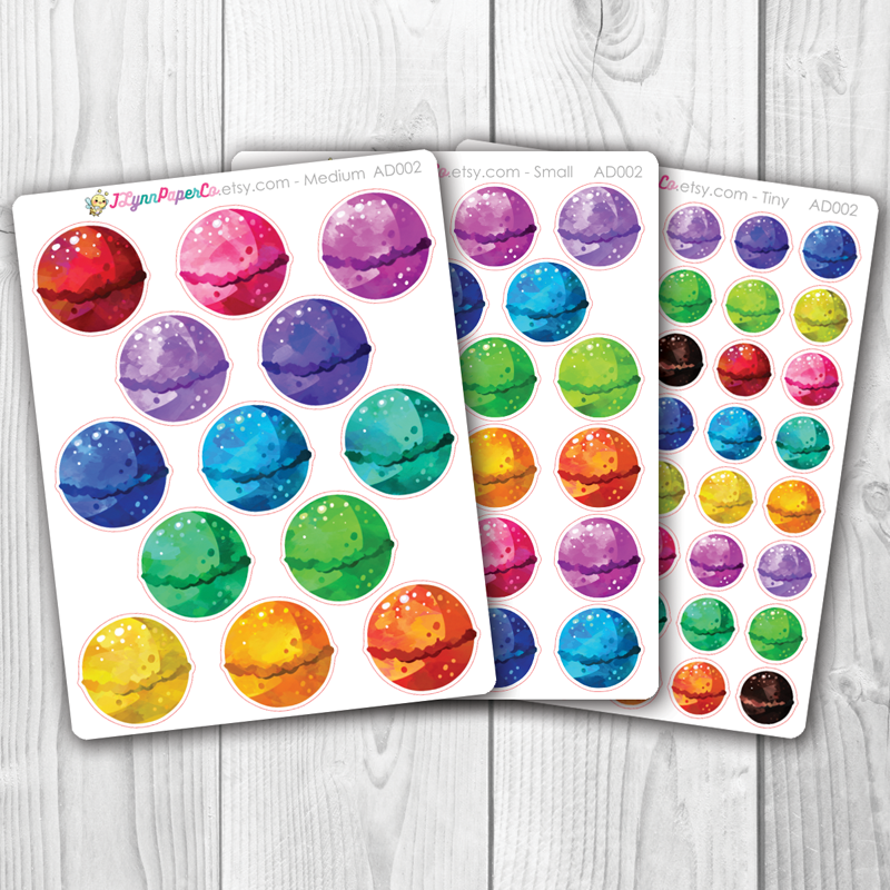 Bath Bomb Stickers | AD002