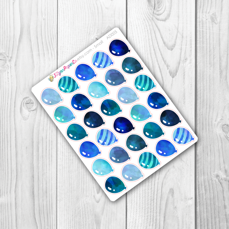 Blue Balloon Stickers | AD005