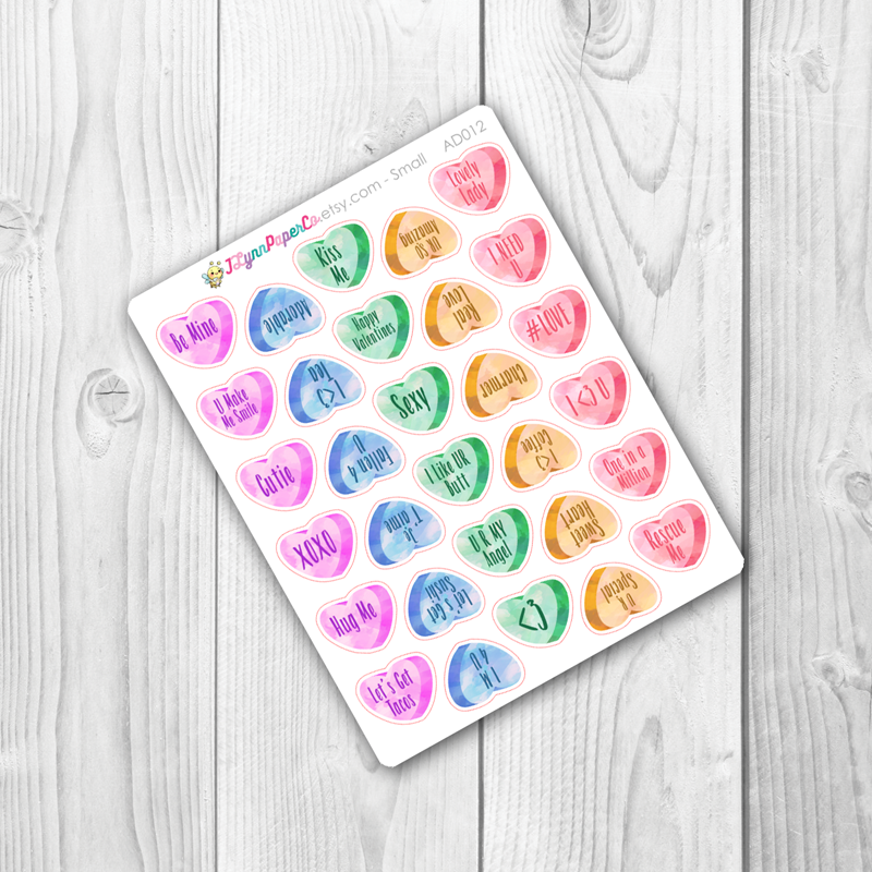 Candy Hearts Stickers | AD012