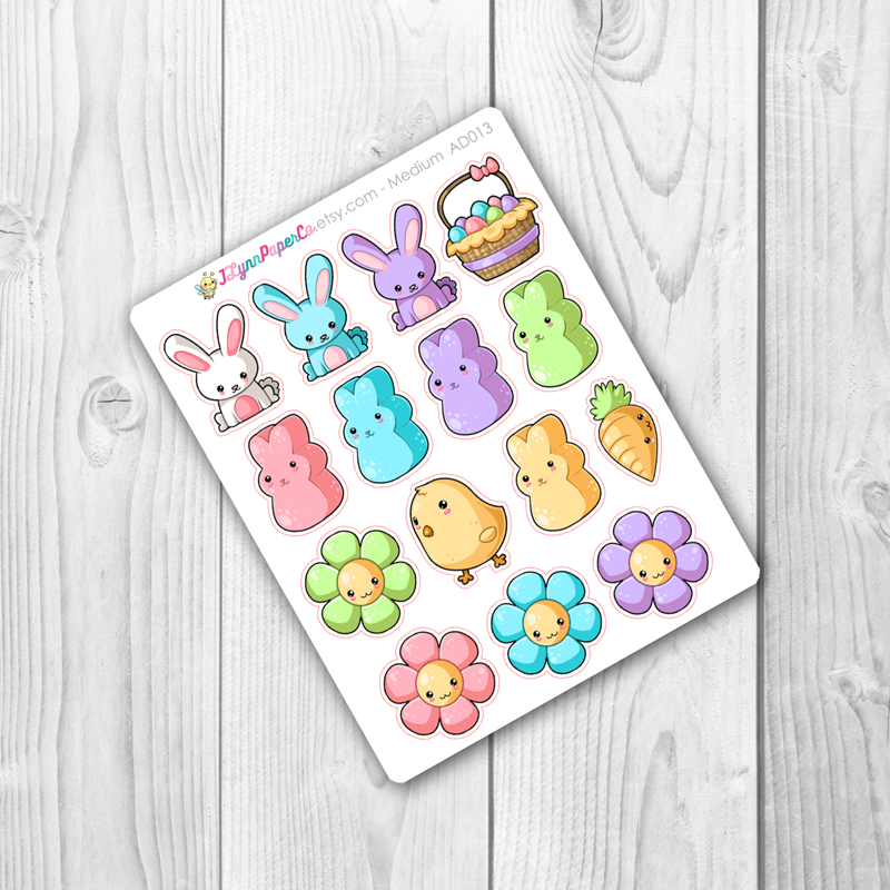 Kawaii Easter Deco Stickers | AD016
