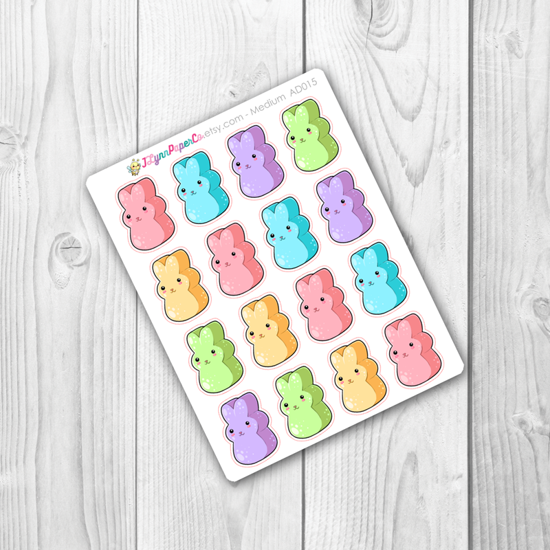 Kawaii Easter Peeps Deco Stickers | AD015