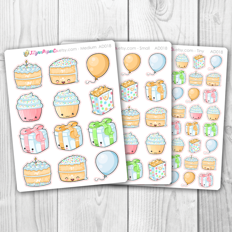 Kawaii Birthday Deco Stickers | AD018