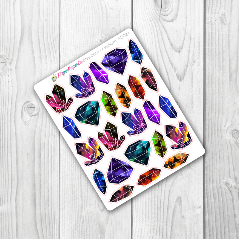 Space Crystal Stickers | AD024