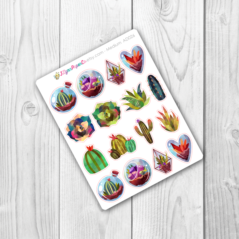 Succulents and Cacti Stickers | AD026