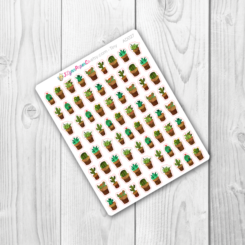 Potted Cacti Stickers | AD027