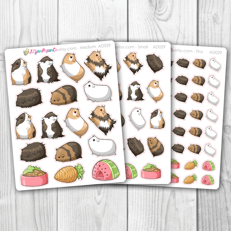 Kawaii Guinea Pig Deco Stickers | AD029