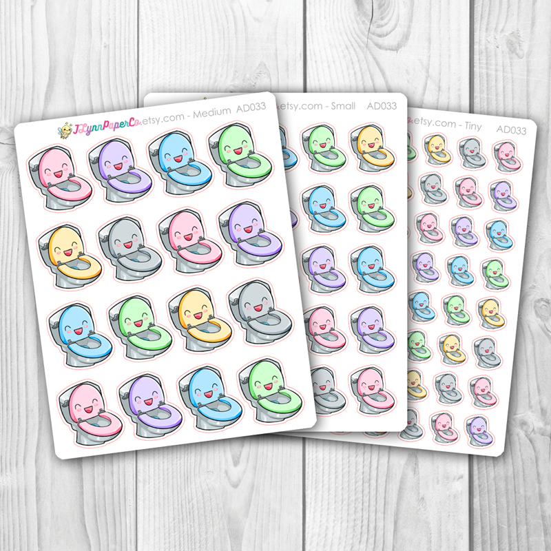 Kawaii Toilet Stickers | AD033