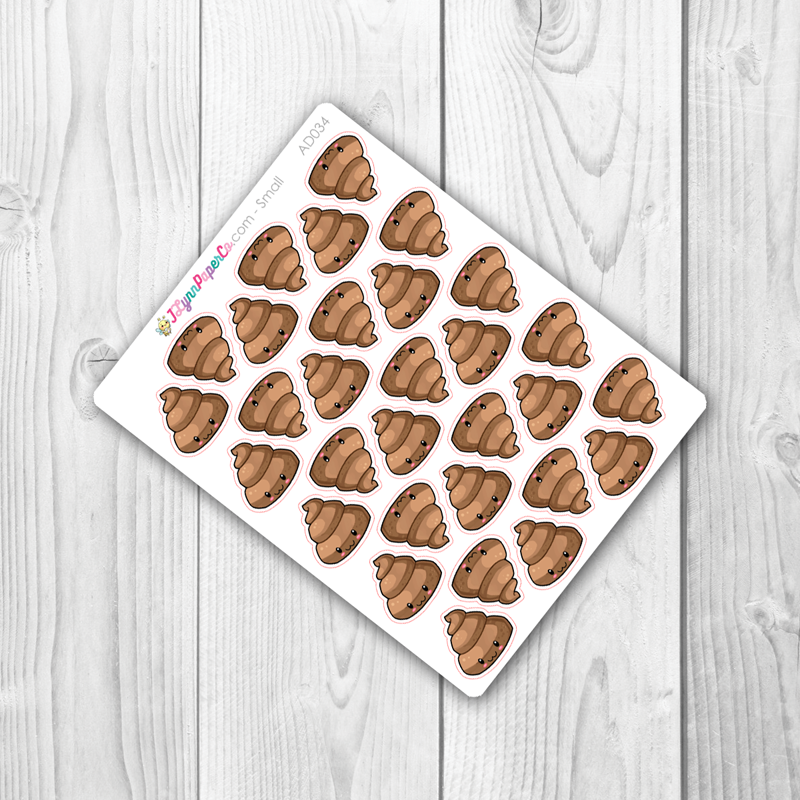 Kawaii Poop Stickers | AD034