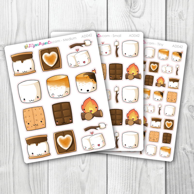Kawaii S'mores Stickers | AD042