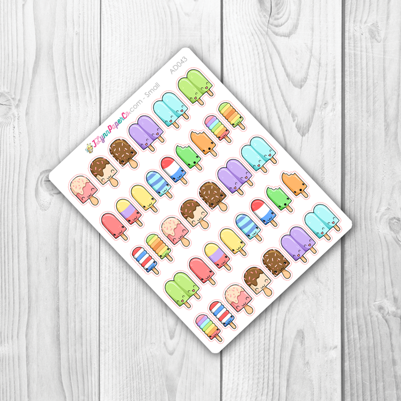 Kawaii Popsicle Stickers | AD043