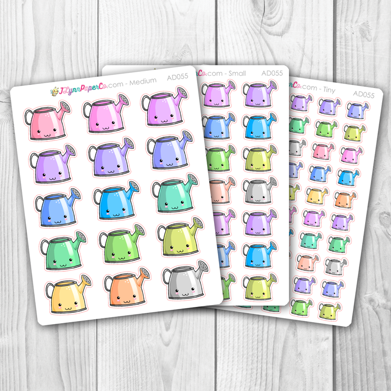 Kawaii Watering Can Deco Stickers | AD055
