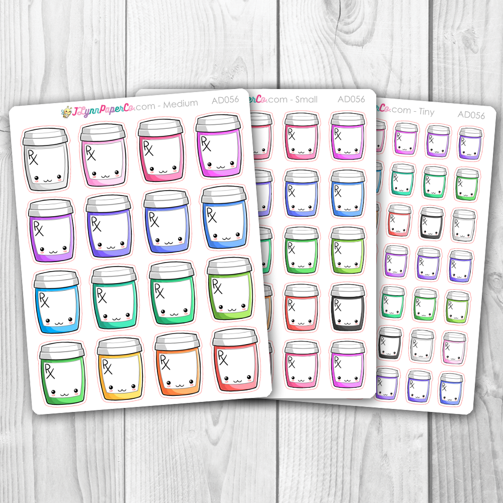 Kawaii Medication Deco Stickers | AD056