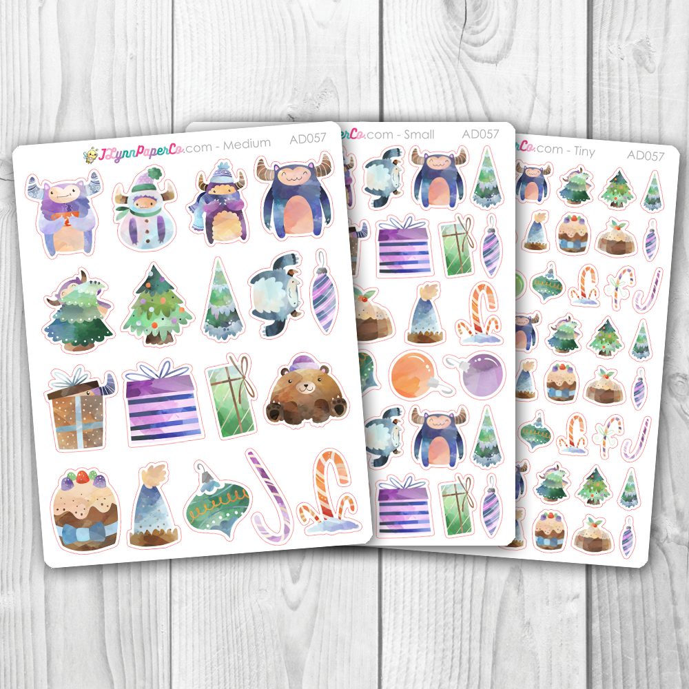 Christmas Yeti Deco Stickers | AD057