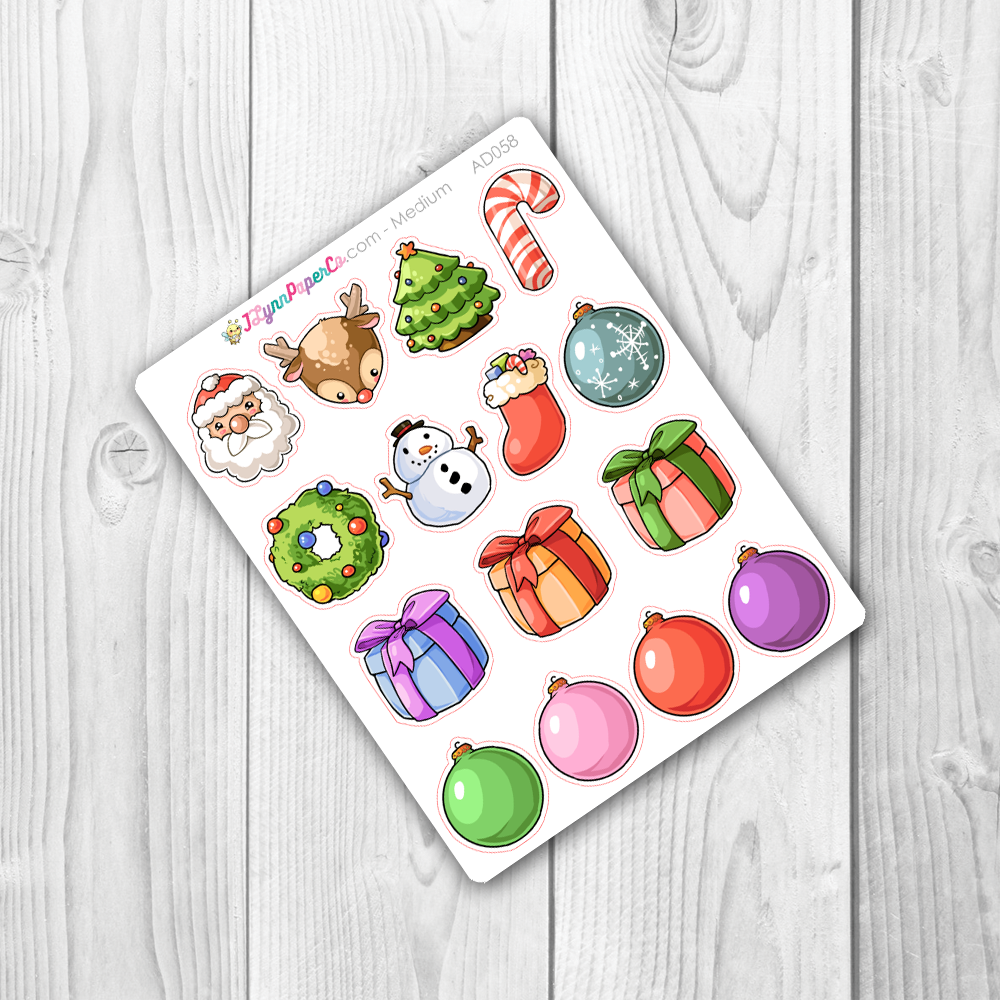 Cute Christmas Deco Stickers | AD058