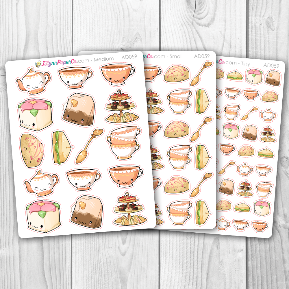 Kawaii Tea Party Deco Stickers | AD059