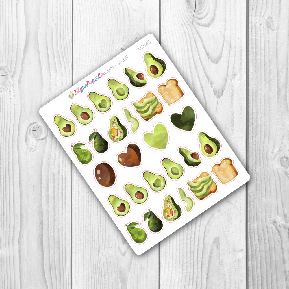 Avocado Deco Stickers | AD063