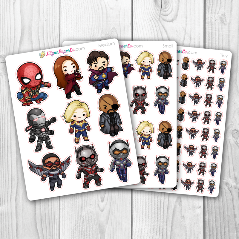 Super Hero 2 Character Stickers