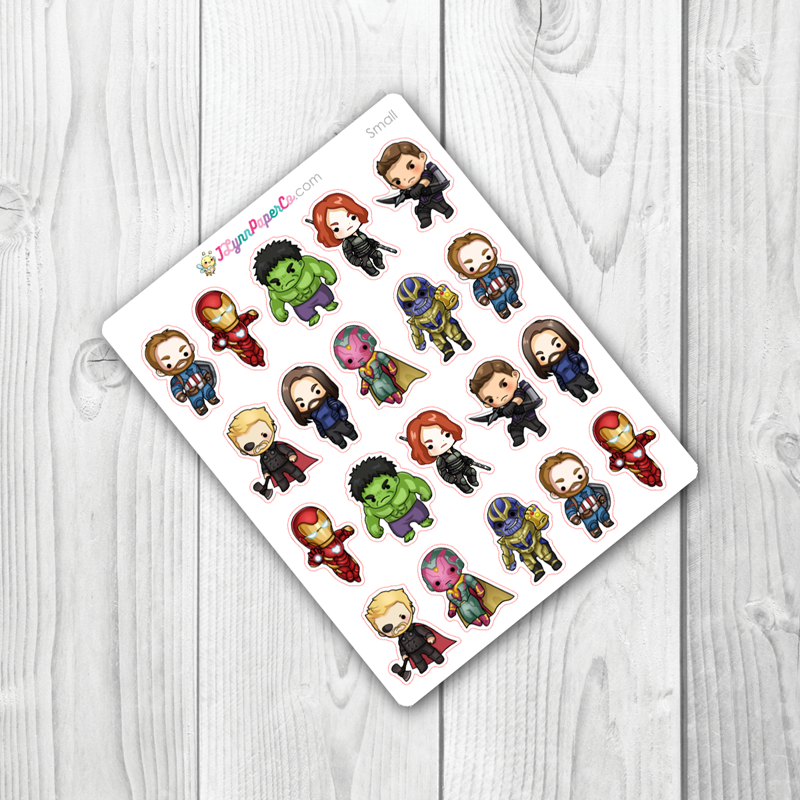 Super Hero 1 ALT Character Stickers