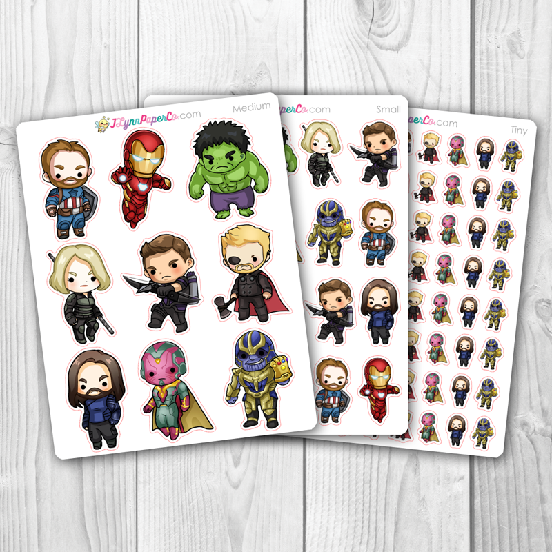 Super Hero 1 Character Stickers