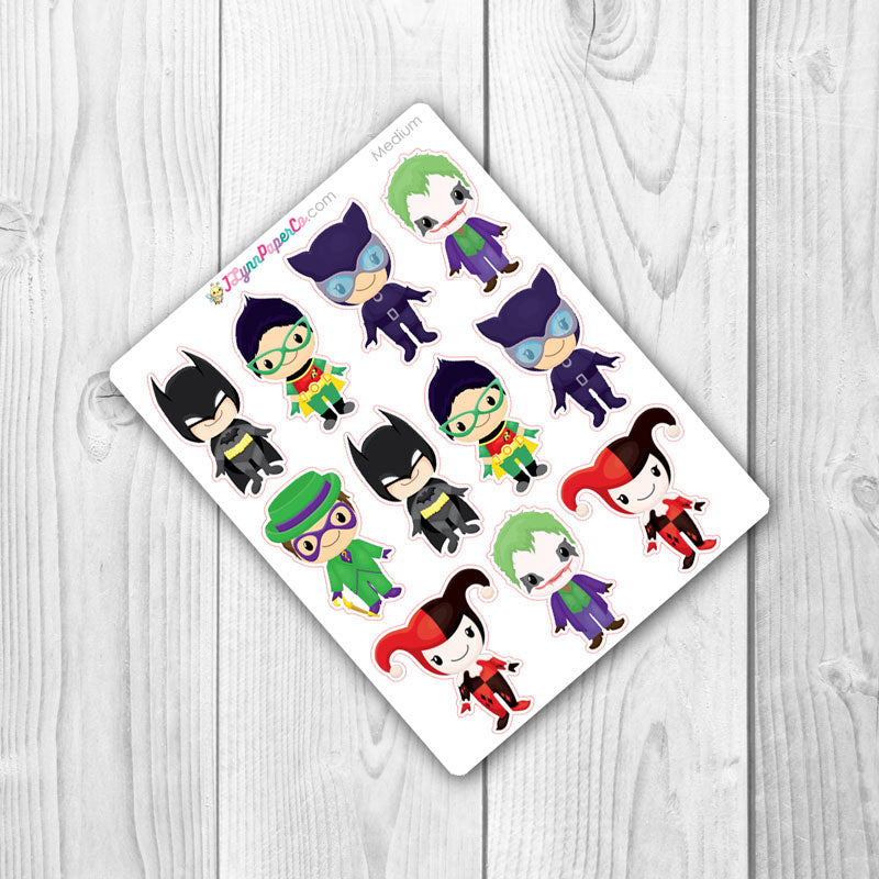Bat Super Hero Character Stickers