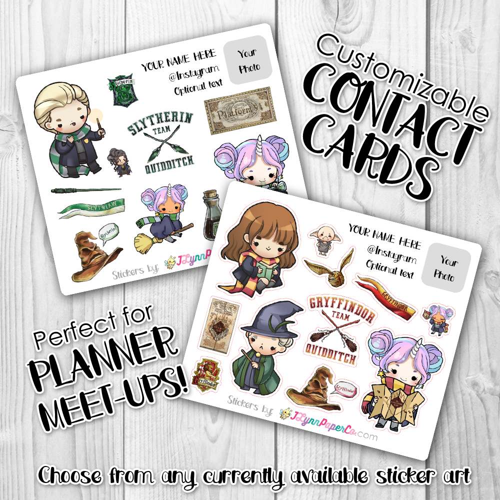Custom Contact Sticker Cards