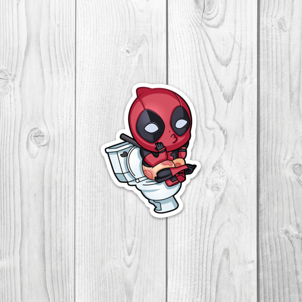 Mr Pool Toilet Vinyl Decal