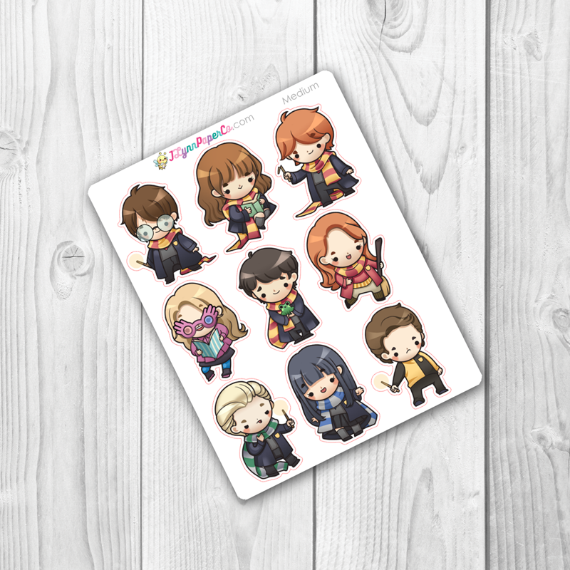 Wizards set 1 Character Stickers