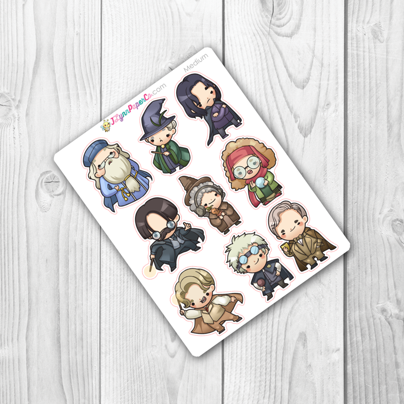 Wizards set 3 Character Stickers