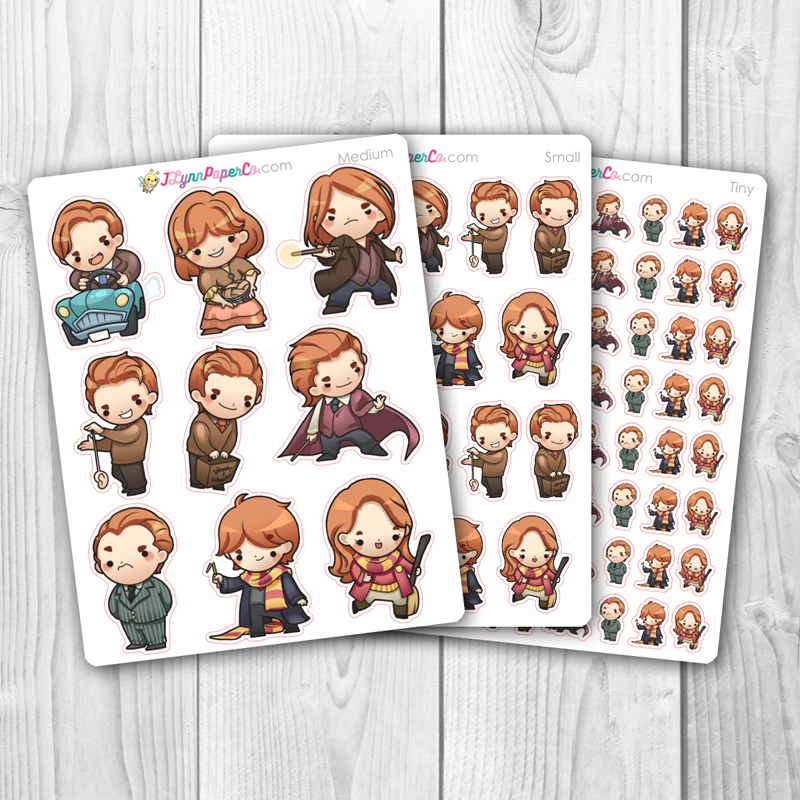 Wizards set 4 Character Stickers
