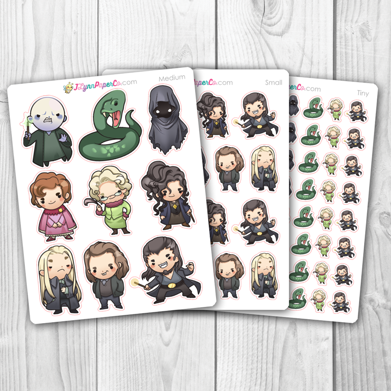 Wizards set 5 Character Stickers
