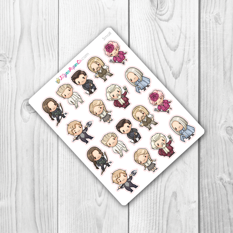 Mockingjay Character Stickers