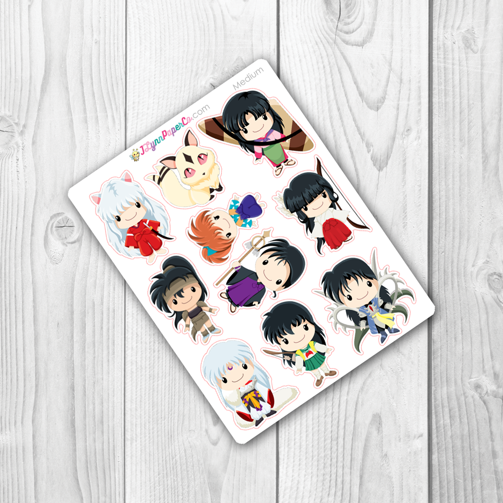 InuYasha Character Stickers